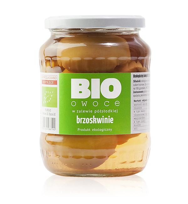 Brzoskwinia - bio owoce w zalewie