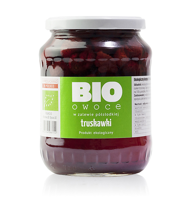 Truskawka - bio owoce w zalewie