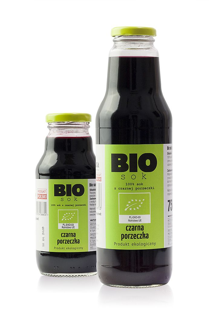 Bio sok z czarnej porzeczki – 100 % czarna porzeczka