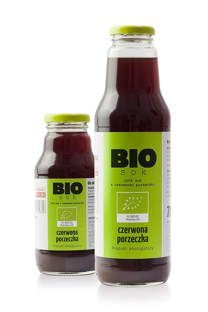 Bio sok z czerwonej porzeczki – 100 % czerwona porzeczka