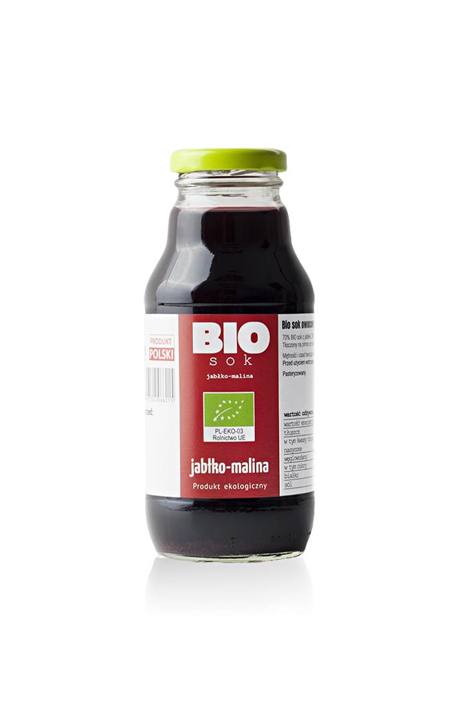 sok owocowy jablko-malina 330 ml